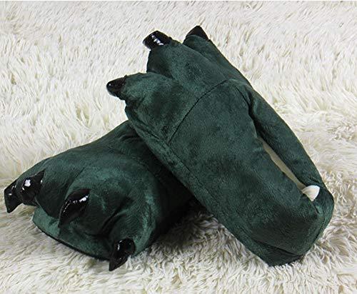 Zapatillas Antideslizantes para Interiores y Exteriores Zapatillas Calientes del Invierno la Pata...