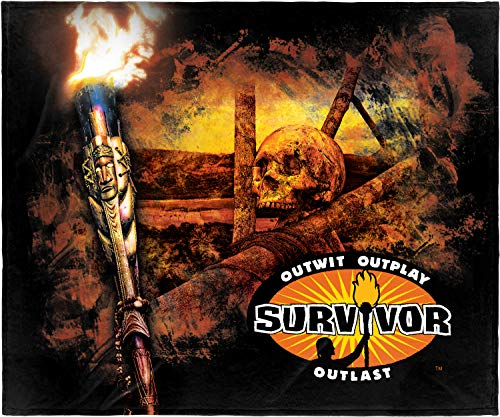INTIMO Survivor TV Series Outwit Outplay Outlast Super Soft and Cuddly Plush Fleece Throw Blanket 50