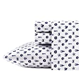 Poppy & Fritz | Percale Collection | Bed Sheet Set - 100% Cotton, Crisp & Cool, Lightweight & Moisture-Wicking Bedding, Twin, Sea Icons