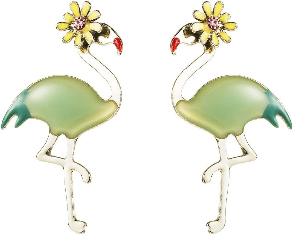 Earrings European and Gorgeous online shop American red-crowned crane S925 earrings s