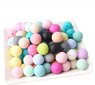 Baby Love Home Baby Teether 150pcs 15mm Silicone Teething Beads Round Loose Organic Nursing Baby Chew Colorful Beads
