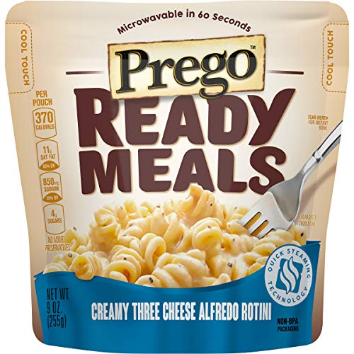 Prego Ready Meals, Creamy Three Cheese Alfredo Rotini, 9 oz (Pack of 6)