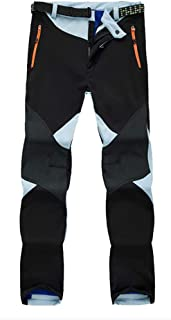 XFentech Women's Winter Trousers - Outdoor Warm Plus Velvet Lined Soft Shell Sports Waterproof Pants