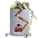 Succulent Pot, Cute Animal Planter Succulent Pot 4 inch Planters Plants Large Hole Pen Holder Garden Indoor Decor Cactus Faux Flower for Women Kid(Without Plants)