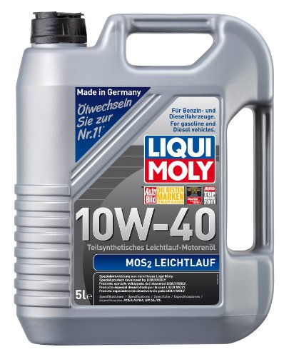 LIQUI MOLY 1092 MoS2 Leichtlauf Motoröl 10W-40, 5 L