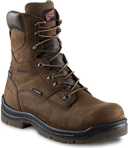 Men's 8' Work Boot (RW 2280) Electrical Hazard, Waterproof None-Metallic Toe (9D, 2280-Hazelnut...