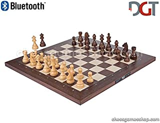 DGT Bluetooth Rosewood e-Board with TIMELESS pieces - Electronic chess - chessgamesshop.com