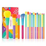 Docolor Makeup Brushes 15 Pcs Colourful Makeup Brush Set Premium Synthetic Kabuki Foundation Blending Face Powder Blush Concealers Eyeshadow Rainbow Make Up Brush Set - Dream of Color
