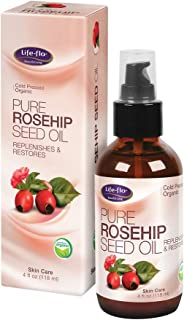 Life-flo Pure Rosehip Oil Organic, Pink, 4 Fluid Ounce