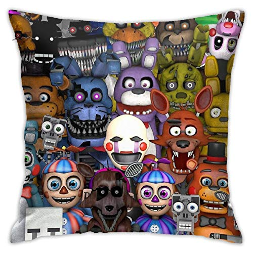 Not Applicable Fnaf Five 5 Nights At Freddy'S Game Gamer Gaming Cosplay - Funda de cojín decorativa para sofá dormitorio 45,7 x 45,7 cm