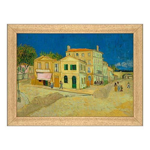 ConKrea - Póster y impresión con marco clásico - Van Gogh - La casa amarilla