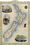 KEAPSIGN Klassisches Retro-Blechschild – Karte von