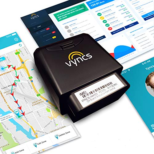 GPS Tracker for Vehicles Vyncs 4G No Monthly Fee Real Time Tracker 1 Yr Data Plan USA+Global SIM Car...