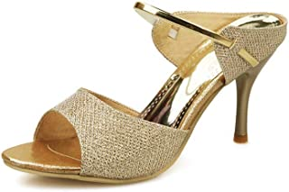 BalaMasa Womens ASL06774 Pu Heeled Sandals
