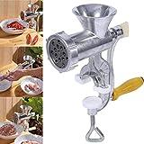 Máquina para picar carne manual Aleación de aluminio Máquina para hacer pasta Máquina para salchichas de carne operada a mano para cocina casera, restaurante, hotel, cantina y carnicería