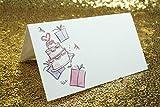 Tischkarten,Platzkarten 100 stück Perlweiss Blanko Namenskarten für Hochzeiten Geburtstage Taufe Familienfeiern Trauerfeiern Meetings Präsentationen 10 * 10cm - 2
