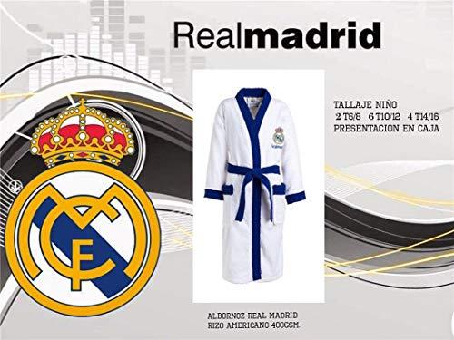 TEJIDOS EL MUNDO Albornoz Talla Infantil Real Madrid