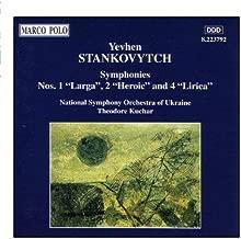 STANKOVYTCH: Symphonies Nos. 1, 2 & 4