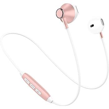 Picun H2 Bluetooth イヤホン 高音質 スマホ二台接続支持 IPX4防水防汗 ノイズキャンセリング マグネット搭載 イヤフォン リモコン マイク付き ブルートゥース イヤホン Bluetooth4.1 ワイヤレス イヤホン Phone Android対応 (ローズゴールド)