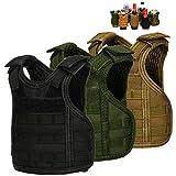 DSMY Bottle Vest Tactical Beverage Cooler Military Beer Mini Molle Vest Hunting Bottle Drink Adjustable Shoulder Straps (3 park Multi) …