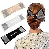 3PCS Deft Bun Bow-Knot Hair Bun Maker Reutilizable Ballet...