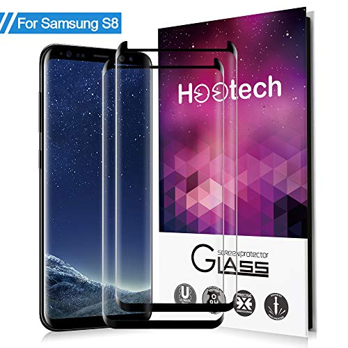 Samsung Galaxy S8 Screen Protector,Airsspu Tempered Glass 3D Touch Compatible,[9H Hardness][Bubble-Free][Anti-Fingerprint]-(2 Pack)