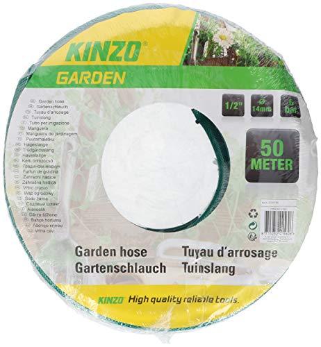 Tubo Irrigazione Giardino 50 Metri Rinforzato Colore Verde Classico 3 Strati Bobina Per Irrigare Kinzo