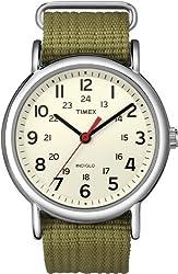 top 10 uswat watch instructions Timex Unisex T2N651 Weekender Nylon 38mm Olive Watch