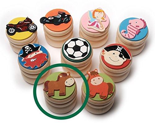 Inware melktanddoos van hout verschillende motieven paard, bruin