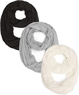 2 or 3 Packs Women Soft Lightweight Scarf for All Seasons