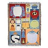 Disney-Pixar Character Blocks Woven Tapestry Throw Blanket, 48' x 60'