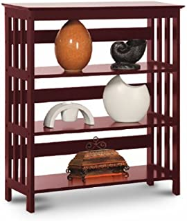 Mission Style Contemporary Book Shelf / Case Bookcase Bookshelf (Cherry)