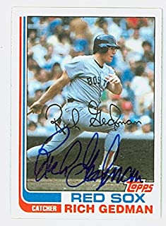 Rich Gedman AUTOGRAPH 1982 Topps #59 Boston Red Sox
