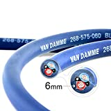 Van Damme Professional Blue Series Studio Grade 2 x 6 mm (2 Nuclei) Due-Assi Cavo per Alto...