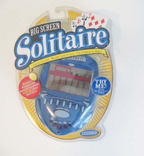 Radica Big Screen Solitaire Lighted Electronic Handheld Game (2004) Games