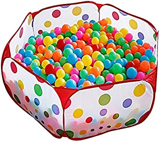 KUUQA Kids Playpen Play Tent Ball Pit Pool with Red Zippered Storage Bag for Toddlers, Pets 3.28Ft (Balls not Included)