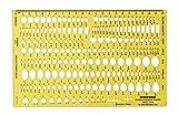 Traceease Serie De Piedras Preciosas De Múltiples Forma Dibujan Las Plantillas De La Joyería Herramientas De Elaboración De Joyas Plantillas De Diseño