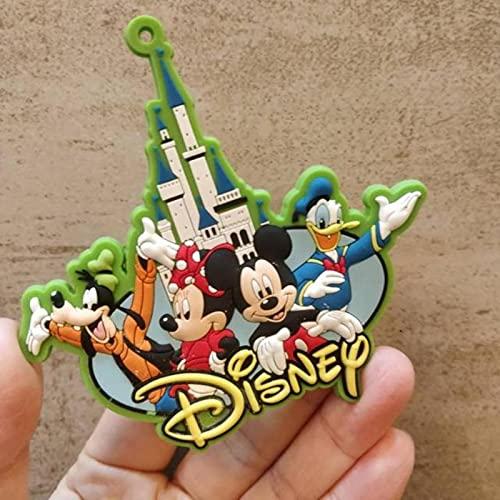EU-NING Disney arroz ratón nevera imanes congelados sirena princesa dibujos animados goma suave nevera pegatina recuerdos