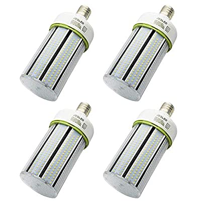 80W LED Corn Light Bulb, Large Mogul Base E39 LED Bulbs, 10800 Lumens (400W-600W Equivalent), 5000K Daylight, AC100-277V, Metal Halide Replacement for Outdoor Indoor Area Lighting(4 Pack)