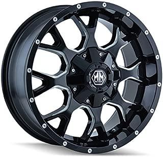 Mayhem Warrior 8015 Black Wheel with Milled Spokes (18x9