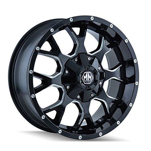 "Mayhem Warrior 8015 Black Wheel with Milled Spokes (20x9""/16x165.1mm)"