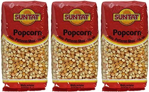 SUNTAT Popcorn Mais , 3er Pack (3 x 500 g Packung)