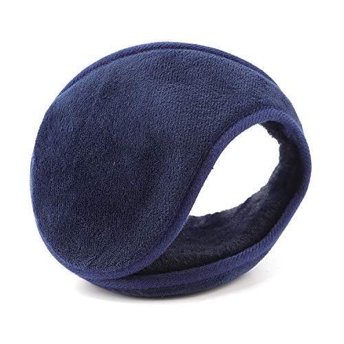 YQXCC Ohrwärmer für Männer & Frauen Klassische Fleece Unisex Winter warme Ohrenschützer(Blau)