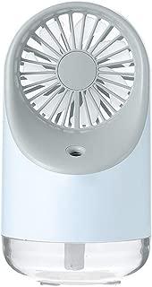 SHANGRUIYUAN-Mini Fan Summer Small Bedside Multifunction Fan USB Charging Desktop Fan Night Light Low Noise Fan (Color : Blue)