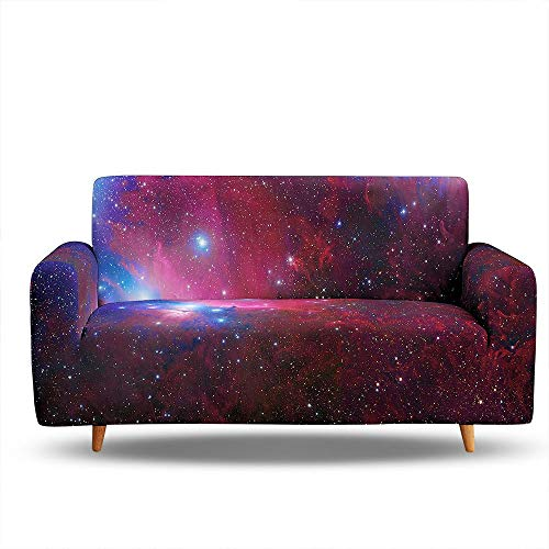 HOSIMA Printed Sofa Cover Starry Sky and Texture Pattern Stretch Couch Cover Sofa Slipcover Washable Furniture Protector with Non Skid Foam and Elastic (SF052,3-seater190-230cm)