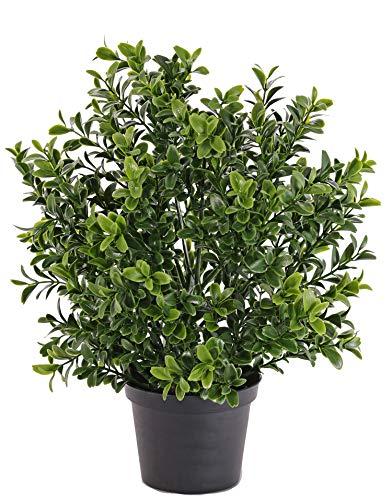 artplants.de Mata de boj Artificial en Maceta, protección UV, 30cm - Plantas Artificiales - arbusto