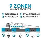 BELVANDEO I Orthopädische Kaltschaummatratze mit 7-Zonen - 90x200 cm I H3-80 bis 120-kg I 18 cm hoch I Flexion Plus I Endlich auf Einer bequemen Matratze schlafen - 4