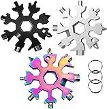 3 Pack-18 In 1 snowflake multitool-Stainless Steel Snowflakes Multi-Tool - 18-in-1 Stainless Multi-tool (Standard, Stainless)