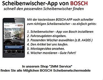650 550 2x Wischergummi Scheibenwischer Gummis Ersatz Kompatibel Mit Bosch Aerotwin Scheibenwischer Inion 2x Ersatzgummi 650mm 550mm Auto