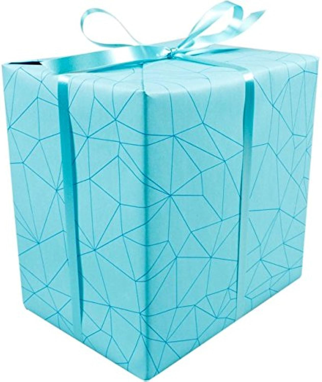 LOVLY® Cadeaupapier, 50cm, 200m, 80gr 80gr 80gr m², Facet, 691, zeegroen B07C999RSG  | Zuverlässige Leistung  c0147a